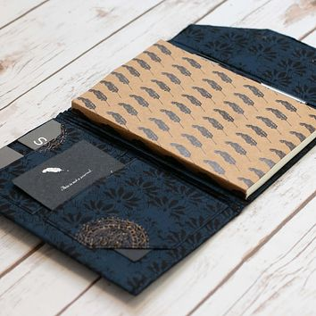 A5 Folio Planner Organizer in Midnight Blue
