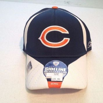 CREYONC. BRAND NEW CHICAGO BEARS RETRO REEBOK SIDELINE OSFA FITTED HAT