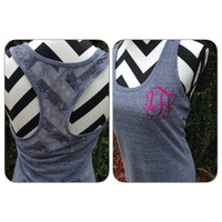 Monogram Tank Top Custom Sassy Glitter Tank Sparkle like Diamonds Monogram Tanktop Monogrammed Tank Top Bride Bridesmaid Monogrammed Gifts