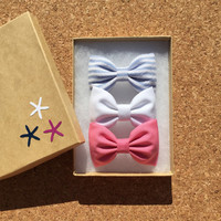 Pastel Seaside Sparrow hair bows. Hair bow girl gift for her bow Hair bow bows valentine gift accessory bows bow girl