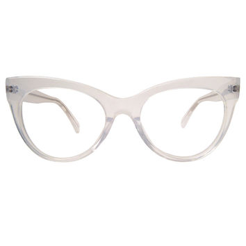 Square Cat Eye Glasses / Clear