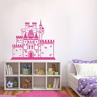 ik382 Wall Decal Sticker Room Decor Wall Art Mural medieval castle princess Cinderella fairy tale house children's bedroom