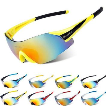 VONE05L 2017 Men Cycling Glasses UV400 Outdoor Sports Windproof Eyewear Mountain Bike Bicycle Sunglasses Ultra Light Non Frame Eyeglass
