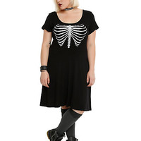 Rib Cage Slash Dress Plus Size