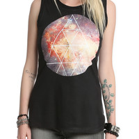 Space Triangle Muscle Girls Top