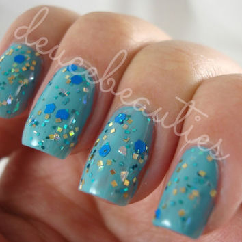 Blue Barracudas - Full Size (15ml/.5oz) Glitter Nail Polish