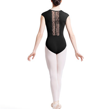 Lace Back Cap Sleeve Leotard