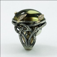 Enchanted Forest Ring by metalandstoneelite on Etsy