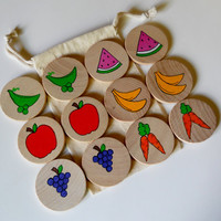 Jumbo Memory Game, Fruits & Vegetables,  waldorf toys, games and puzzles,, Memory Game,stocking stuffers
