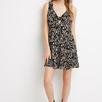 Floral Print Knot-Front Dress