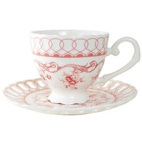 Pink Vine Cup and Saucer