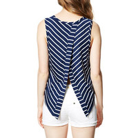 Stripe Envelope-Back Tank