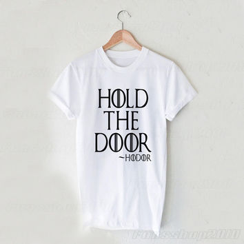 Hold The Door Hodor Black White Unisex T Shirt