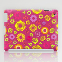 Country flowers in pink iPad Case by Silvianna
