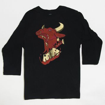 Cow Chop Thrasher Baseball Shirt