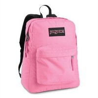 Jansport Classic Superbreak 16.7 School Backpack - Pink Pansy
