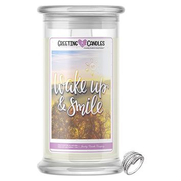 Wake Up & Smile | Jewelry Greeting Candle