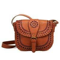 LASER-CUT CROSS-BODY BAG