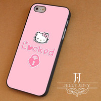Hello kitty locked iPhone 4 Case 5 Case 5c Case 6 Plus Case, Samsung Galaxy S3 S4 S5 Note 3 4 Case, iPod 4 5 Case, HtC One M7 M8 and Nexus Case