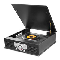 Pyle Bluetooth Classic Record Player Turntable MP3 Recorder USB/SD AM/FM