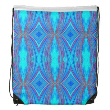 creative abstract pattern drawstring backpack