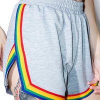 X Dolls Kill Rainbow Shorts