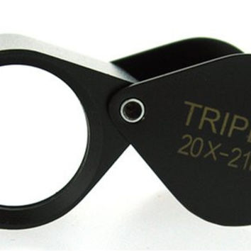 20x by 21mm TRIPLET professional JEWELERS LOUPE Black with LEATHER CASE