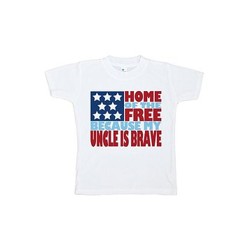 Custom Party Shop Kid's Uncle is Brave 4th of July T-shirt
