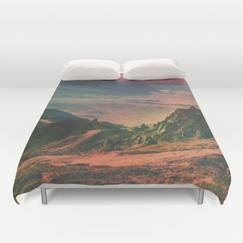 Psychedelic Planet Duvet Cover by Daniel Montero