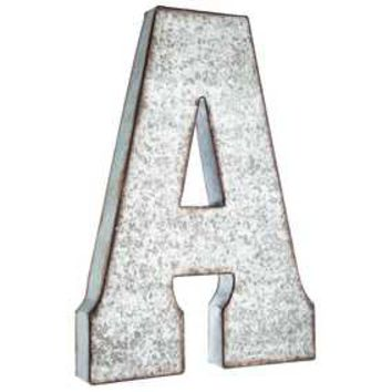 A Large Galvanized Metal Letter | Hobby Lobby | 871723