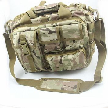 DCCKF4S Men's Shoulder Bags Molle Outdoor Sport Rucksack 15' Laptop Camera Mochila Military Tactical Computer Bag