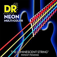 DR Strings Hi-Def NEON Multi-Color Coated Medium 4-String Bass Strings | GuitarCenter