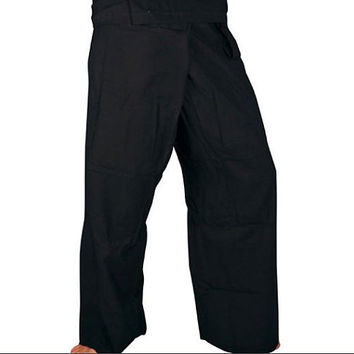 Black Fisherman Pants - 100% Cotton - Traditional Thai Pants!