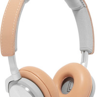 B&O Play - H8 leather and silver-tone headphones