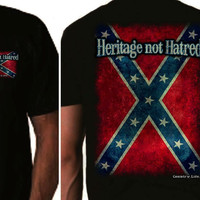 Country Life Outfitters Rebel Flag Heritage Not Hatred Black Unisex T-Shirt