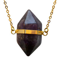 Suspended Amethyst Necklace