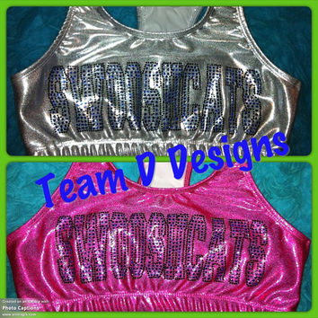 Metallic Swooshcats sports bra