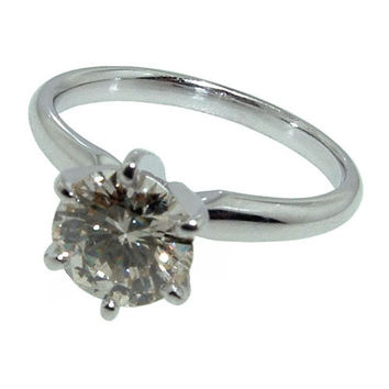 1 carat diamond solitaire engagement ring prong style