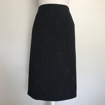 DRESSBARN Women's Plus Size 24W Black Career Lined Midi Skirt