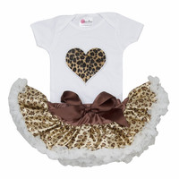 Newborn baby Tutu- Cheetah Baby Tutu- Baby Clothes- Newborn Baby Clothes- Baby Tutu-Cheetah Heart Tutu Set