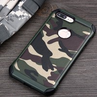 Phone Cases sFor iPhone 8 8 Plus 7 7 Plus case For iPhone 7 8Plus case cover Army Camo Camouflage Hard PC + Soft Silicon Cover