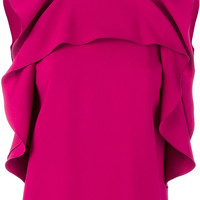 Red Valentino Sleeveless Ruffled Top - Farfetch