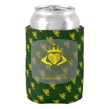 The Claddagh (Gold) Can Cooler