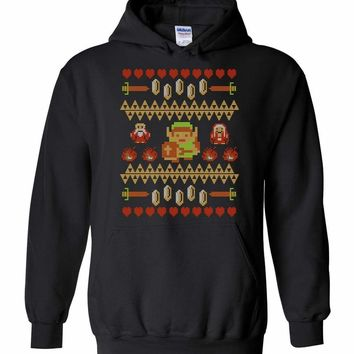 Don't Wear This Alone Classic Zelda Ugly Sweater Design Pullover Hoodie