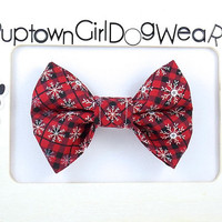 SPEEDY SHIPPING!! Holiday Christmas Dog bow tie Christmas Bow Tie Holiday Bow Tie Dog Bow Tie Doggie Bow Tie Dog Collar Bow Tie Pet Bow Tie