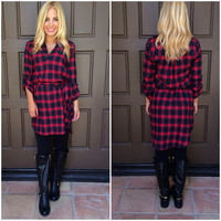 Flannel of Plaid Dress
