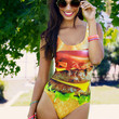Plus Size Hamburger <br />One-piece Swimsuit <br />Love This Sunday