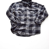 Black checkered Flannel for Men / Women by Field & Stream Size L
