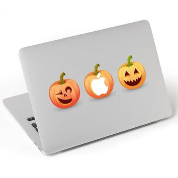 1 X Set of Halloween 3 Happy Pumpkin Laptop Notebook Skin Sticker Cover Vinyl Decal Decoration for Apple Macbook