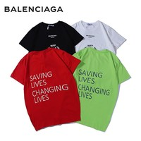 2019 NEW BALENCIAGA T SHIRT WOMEN MENS TOP BLOUSE